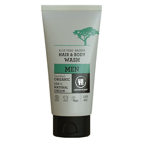 MEN Hair & Body wash Aloe Vera & Baobab - 150 ml - Urtekram