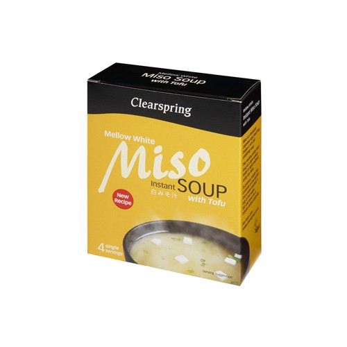 Instant Miso Soup - Mellow White m. tofu - 40 gr - NatureSource