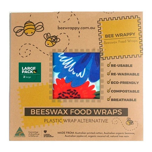 Beeswax Food Wraps 2 x Large - 1 pakke - Bee Wrappy