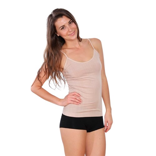 1598d0ced17 Top Cami Beige - Small - Organic Bamboo Eco Wear