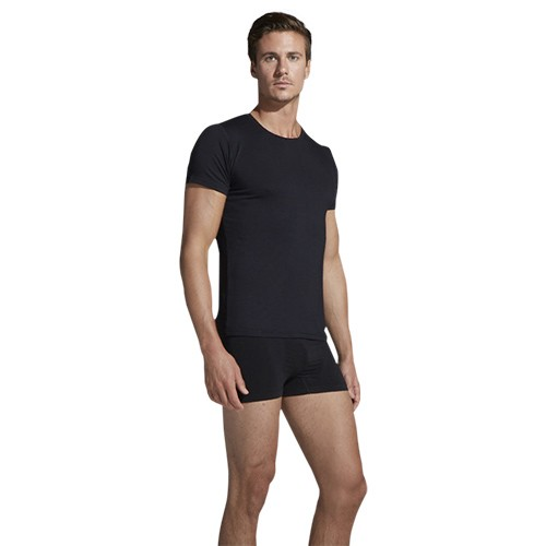 e81b0fa13df T-Shirt mand sort Crew-neck - Small - Organic Bamboo Eco Wear