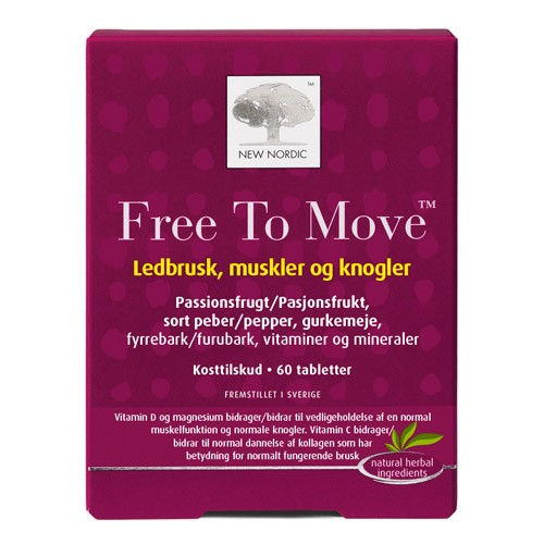 Køb Free to move - 60 tab - New Nordic - Gratis levering