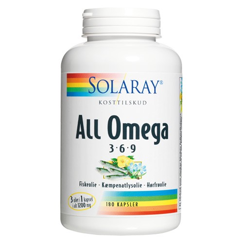 All Omega 3-6-9 - 180 kap - Solaray