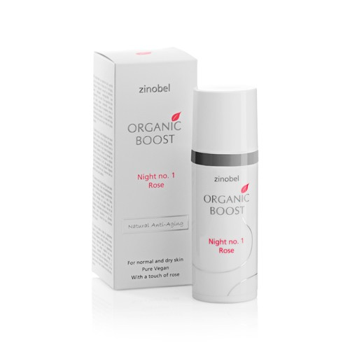 Night no.1 Rose natcreme - 50 ml - Zinobel Organic Boost